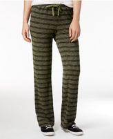 Hippie Rose Juniors' Striped Heathered Soft Pants