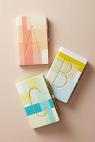 Anthropologie Colorblocked Monogram Journal