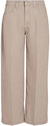 L'Agence Danica Wide-Leg Linen Pants