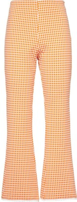 Miu Miu Checked Flared Trousers
