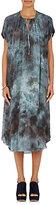 Raquel Allegra Women's Chiffon & Jersey Midi-Dress-BLUE