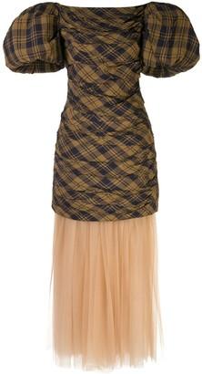 KHAITE Shelly puffed-sleeves petticoat dress