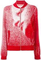 Maison Margiela pixelated pattern cardigan - women - Cotton/Polyester - M