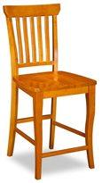 Atlantic Venetian Pub Chairs with Wood Seat in Caramel Latte (Set of 2)