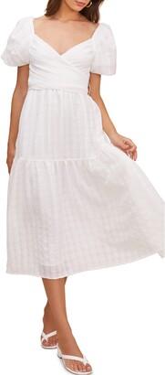 ASTR the Label Sonnet Tie Back Midi Dress