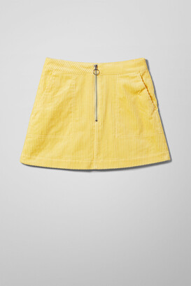 Weekday Piet Mini Skirt - Yellow