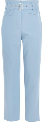 River Island Girls blue belted twill trousers