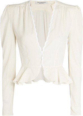 Philosophy di Lorenzo Serafini Scalloped Peplum Blouse