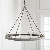 "Crate & Barrel Geoffrey 48"" Round Wood Chandelier"