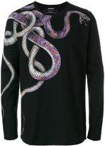 Balmain snake print longsleeved T-shirt