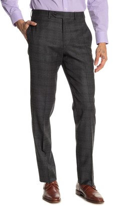 """Brooks Brothers Charcoal Plaid Print Regent Fit Suit Separate Trousers - 30-34"""" Inseam"""