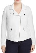 Nic And Zoe Plus Nic and Zoe Plus Linen-Blend Biker Jacket