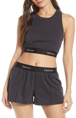 Chalmers Poppy Crop Top & Shorts Pajama 2-Piece Set