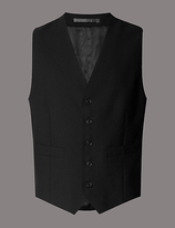 Autograph Black Tailored Fit Wool Waistcoat