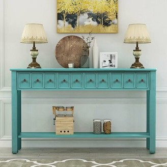"""Highland Dunes Milliman 60.03"""" Solid Wood Console Table"""