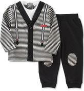 Calvin Klein Baby Boys' 2-Pc. Layered-Look Cardigan & Jogger Pants Set