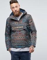 Napapijri Overhead Hooded Jacket Padded Pattern Print
