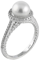 Bella Pearl White Pearl & Sterling Silver Halo Ring