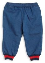 Gucci Baby's Web-Cuff Chambray Pants
