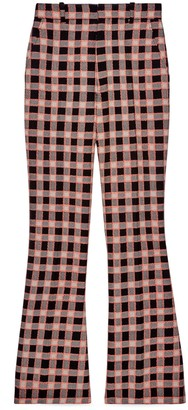 Gucci Check tweed flare trousers