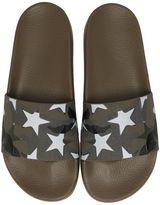 Valentino Camustars Print Rubber Slide Sandals