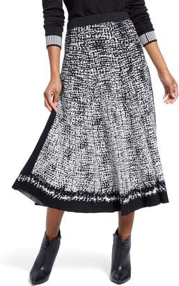 Nic+Zoe Marvel Jacquard Pleated Skirt