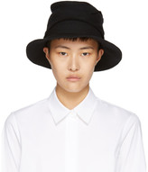 Y's Black Layered Fedora