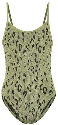 Hunza G Strap metallic swimsuit
