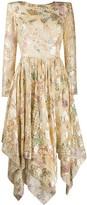 Etro floral-print scoop-back midi dress