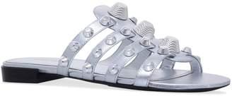 Balenciaga Leather Studded Slides