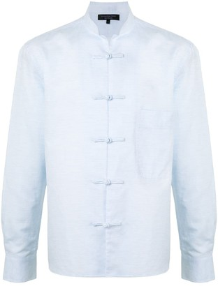 Shanghai Tang Frog Button Chest Pocket Shirt Jacket