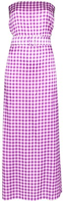 BERNADETTE Carrie belted gingham-print maxi dress