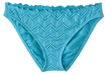 Mossimo Women's Crochet Hipster Swim Bottom -Allure Blue