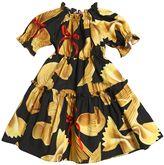 Dolce & Gabbana Pasta Printed Cotton Poplin Dress