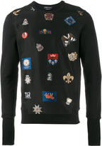 Alexander McQueen badge embroidered sweatshirt - men - Silk/Cotton/Polyester - S