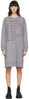 MM6 MAISON MARGIELA Purple Oversized Sweater Dress
