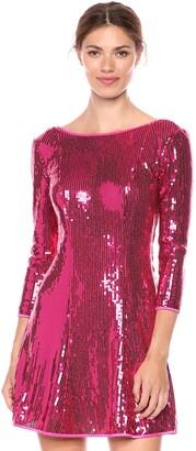 SHO Women's 3/4 SLV Sequin Dress