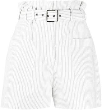 Brunello Cucinelli Stripe Print Belted Shorts