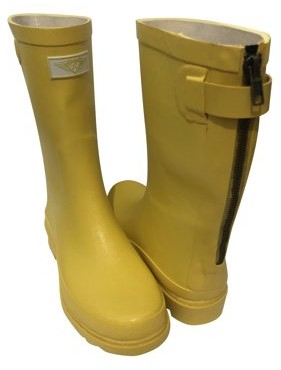 Forever Young Women's Solid Color With Back Mock Zipper Rain Boots