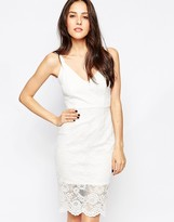 Jessica Wright Hazel Lace Body-Conscious Cami Dress
