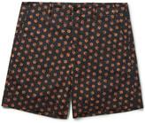 Gucci Clove Floral-Print Cotton Shorts