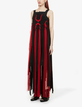 Recharge X7 By Yasmin Sewell Alaia recharged by ZOLI stretch-wool maxi dress