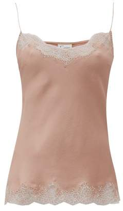 Carine Gilson Lace-trimmed Silk Cami Top - Womens - Pink