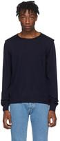 Maison Margiela Navy Decortique Sweater