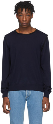 Maison Margiela Navy Decortique Sweater
