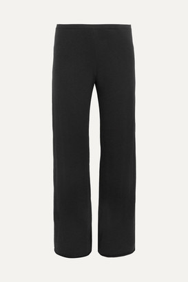 Skin Essentials Pima Cotton-jersey Pajama Pants - Black