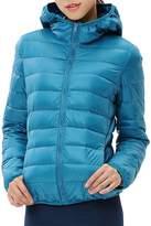 Allonly Women's Padded Slim Hooded Light Down Jacket Short Coat Hoodie