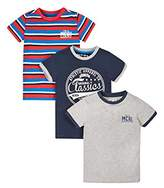 Mothercare Navy, Grey And Striped T-Shirts - 3 Pack, Multi, (Manufacturer Size:122)