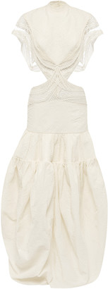 CHRISTOPHER ESBER Cutout Crochet Cocoon Dress
