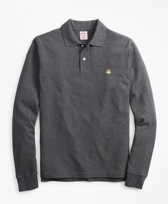 Brooks Brothers Original Fit Supima Long-Sleeve Performance Polo Shirt-Basic Colors